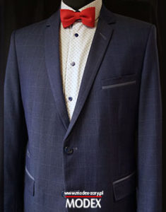 Producent garniturów - garnitur w kratę